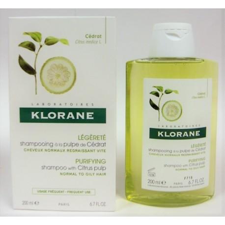 Klorane - Shampooing à la pulpe de cédrat (200 ml)
