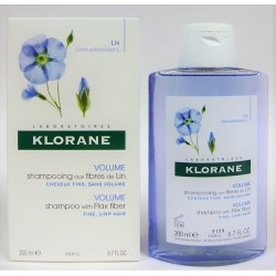 Klorane - Shampooing aux fibres de Lin . Volume (200 ml)