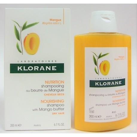 Klorane - Shampooing au beurre de mangue Nutrition et Souplesse 200 ml