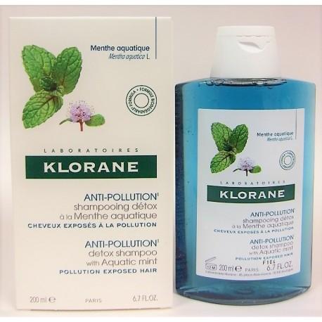 Klorane - Shampooing détox à la Menthe aquatique Anti-pollution (200 ml)