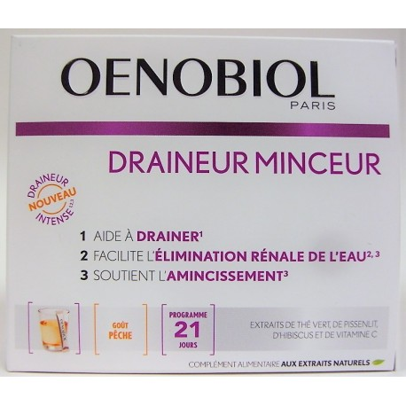 Oenobiol - Draineur Minceur (21 sticks goût pêche)