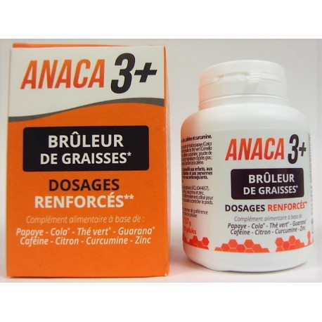 ANACA 3 + - Brûleur de graisses Dosages renforcés (120 gélules)