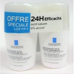 La Roche-Posay - Déodorant Physiologique 24H anti-odeurs, anti-humidité (lot de 2 billes)