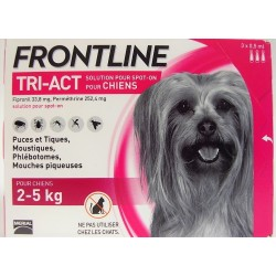 FRONTLINE - TRI-ACT Solution Spot-On Chiens 2-5 kg (3 pipettes)