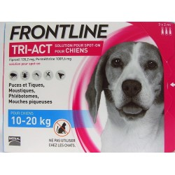 FRONTLINE - TRI-ACT Solution Spot-On Chiens 10-20 kg (3 pipettes)