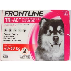 FRONTLINE - TRI-ACT Solution Spot-On Chiens 40-60 kg (3 pipettes)