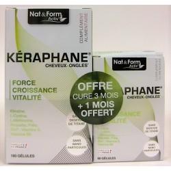 Nat & Form - Kéraphane Cheveux-Ongles (180 + 60 gélules)