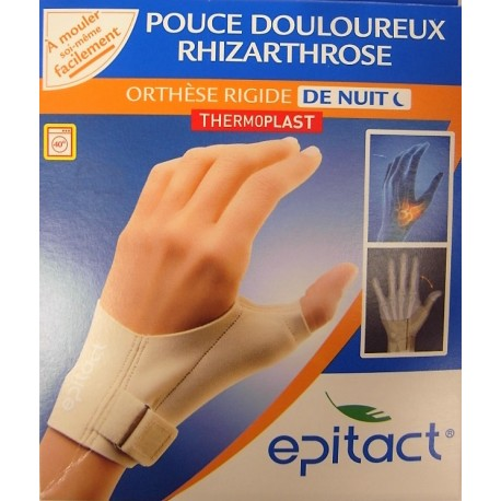 Epitact - Pouce douloureux, Rhizarthrose . Orthèse rigide de nuit . Main droite