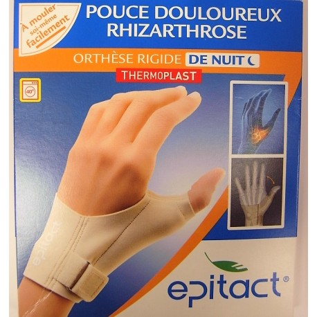 Epitact - Pouce douloureux, Rhizarthrose . Orthèse rigide de nuit . Main gauche