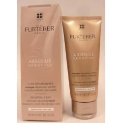 René Furterer - ABSOLUE kératine . Cure renaissance . Masque réparateur ultime. Cheveux épais (100 ml)