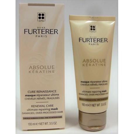 René Furterer - ABSOLUE kératine . Cure renaissance . Masque réparateur ultime. Cheveux normaux à fins (100 ml)