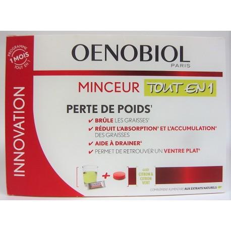 Oenobiol - Minceur Tout en 1 Perte de poids (30 sticks + 60 comprimés)