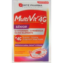 Forté Pharma - MultiVit'4G Sénior 12 vitamines, 8 minéraux, oligo-éléments