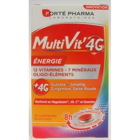 Forté Pharma - MultiVit'4G Energie 12 vitamines, 7 minéraux, oligo-éléments