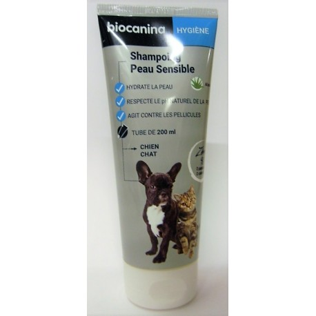 biocanina - Shampoing Peau Sensible . Chien Chat (200 ml)