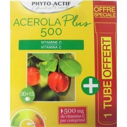 Phyto-actif - ACEROLA Plus 500 (1 tube offert)