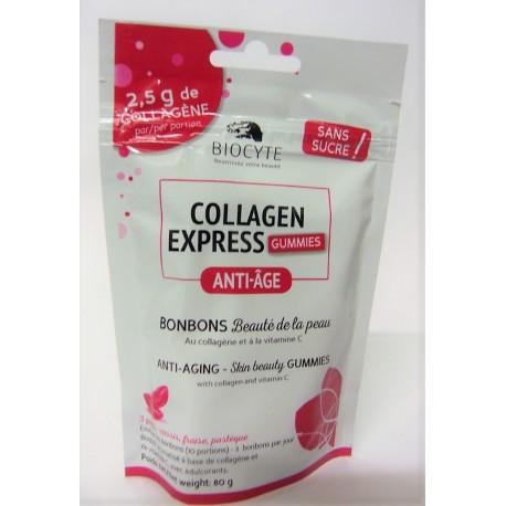 Biocyte - Collagen express Gummies Anti-âge Bonbons au collagène et vitamine C