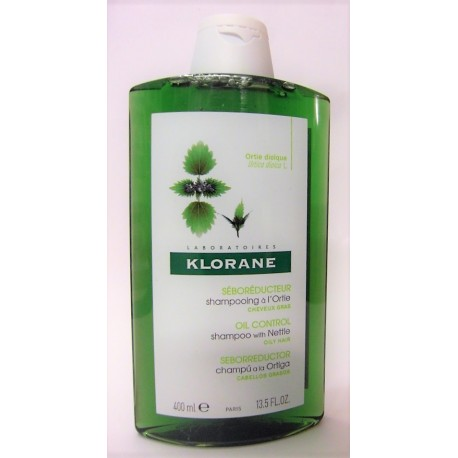 Klorane - Shampooing à l'ortie Séborégulateur Cheveux gras (400 ml)
