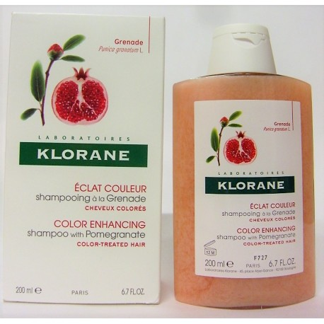 Klorane - Shampooing soin Eclat couleur à la Grenade (200 ml)