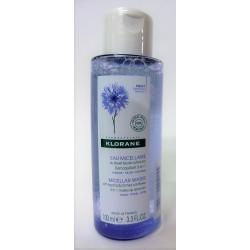 Klorane - Eau micellaire au bleuet Bio . Démaquillant 3 en 1 (100 ml)