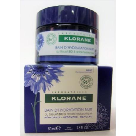 Klorane - Bain d'hydratation Nuit au Bleuet Bio et Acide Hyaluronique (50 ml)