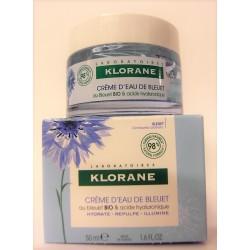 Klorane - Crème d'Eau de Bleuet Bio et Acide Hyaluronique (50ml)