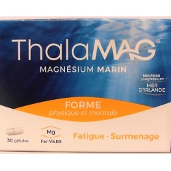 ThalaMAG - Forme physique et mentale Magnésium marin (30 gélules)