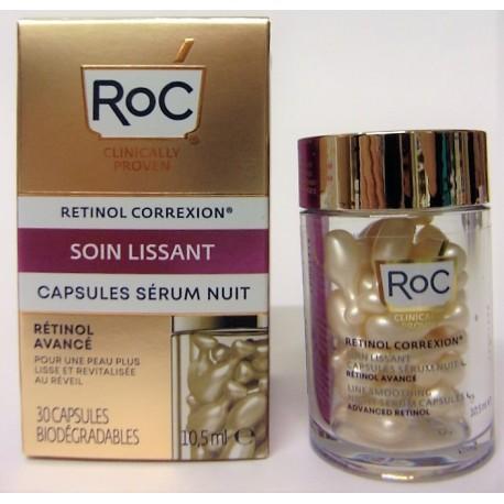 Roc - Soin lissant . Capsules sérum nuit (30 capsules)
