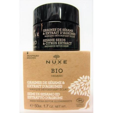 Nuxe Bio - Masque détoxifiant éclat . Graines de Sésame & Extrait d'agrumes (50 ml)