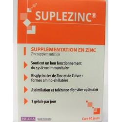 INELDEA -SUPLEZINC Supplémentation en Zinc (60 gélules)