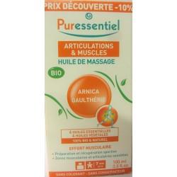 Puressentiel - Huile de massage Bio Effort musculaire Arnica Gaulthérie