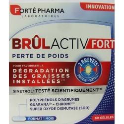 Forté Pharma - Brûlactiv FORT Perte de poids . Dégradation des graisses installées (60 gélules)