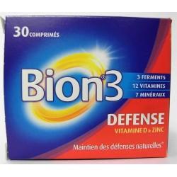 Bion 3 - Défense Maintien des défenses naturelles Vitamines D & Zinc (30 comprimés)
