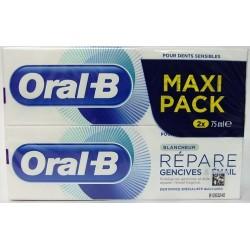 Oral-B - Dentifrice Répare Gencives, émail Blancheur (2x75 ml)