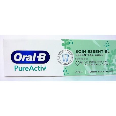 Oral-B - Dentifrice PureActiv Soin essentiel (75 ml)