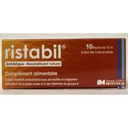 Ristabil - Anti-fatigue . Reconstituant naturel (10 flacons de 10 ml)